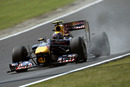 Mark Webber's RB6 throws up some dust on the circuit