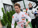 A frustrated Jenson Button qualified eleventh