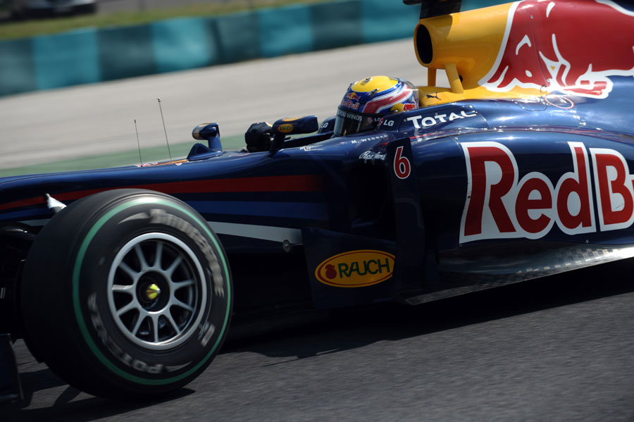 Mark Webber drives to victory