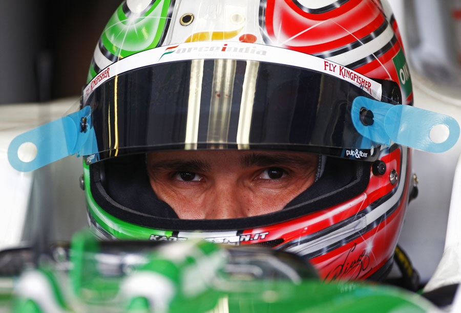 Tonio Liuzzi in the cockpit of his Force India