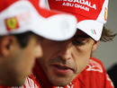 Fernando Alonso and Felipe Massa in the post-race press conference
