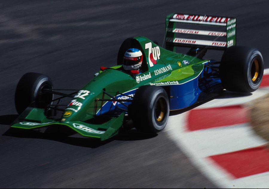 Michael Schumacher making his F1 debut in the Jordan 191