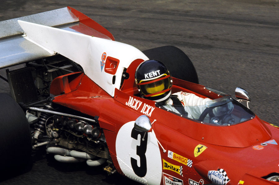 Jacky Ickx during the early stages of the 1971 Italian Grand Prix