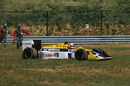 Nigel Mansell retired from the lead of the Hungarian Grand Prix when his right rear wheel nut fell off on lap 70