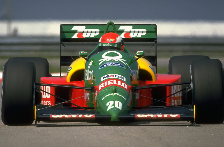Johnny Herbert on his way to fourth place in Brazil