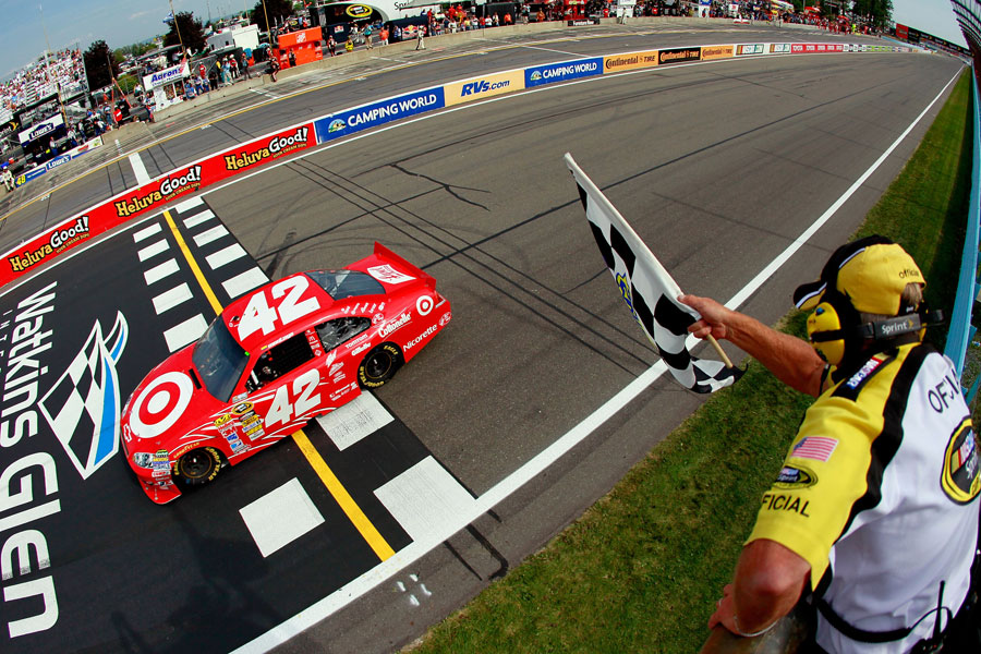 Juan Pablo Montoya wins the NASCAR Sprint Cup Series at Watkins Glen