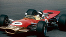 Jackie Oliver in his Lotus 49B during the Dutch Grand Prix