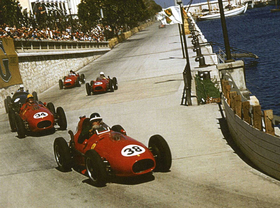 Mike Hawthorn leads the Monaco Grand Prix