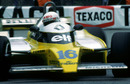 Rene Arnoux in action during to Monaco Grand Prix