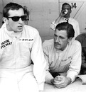 Jackie Stewart pictured with Graham Hill during the Belgian Grand Prix weekend