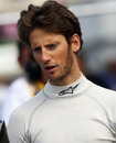 Romain Grosjean in the paddock