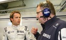 Andy Soucek talks with Williams engineers