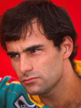 Benetton driver Emanuele Pirro during the 1989 Formula One World Championship