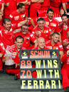 Ferrari celebrate Michael Schumacher's 89th F1 victory