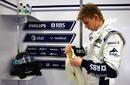 Williams' new signing Nico Hulkenberg prepares for his first test