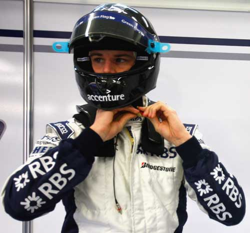 Nico Hulkenberg was testing for Williams on day two at Jerez