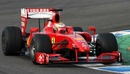 Jules Bianchi was out on track in a Ferrari on day two