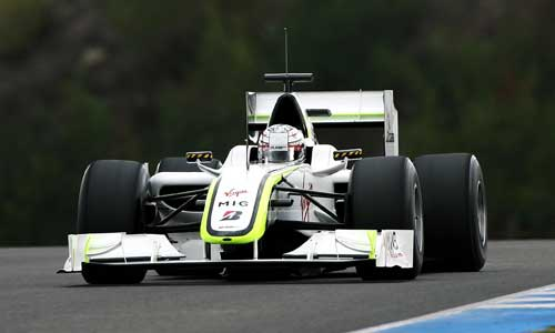 Conway got a second consecutive day behind the wheel of last year's Brawn