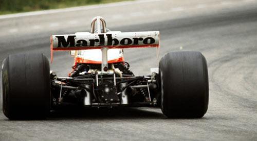 James Hunt on the limit in his McLaren