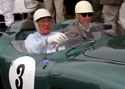 Moss with co-driver Roy Salvadori at the the 2007 Goodwood Revival