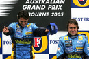 Giancarlo Fisichella celebrates his win in the 2005 Australian Grand Prix