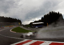 Kamui Kobayashi in the dip at Eau Rouge