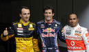 The top three after Belgian Grand Prix qualifying