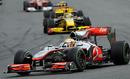 Lewis Hamilton leads Robert Kubica