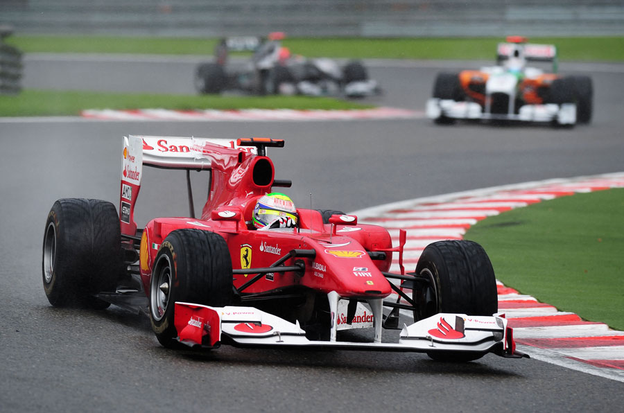 Felipe Massa on his way to a 4th place finish