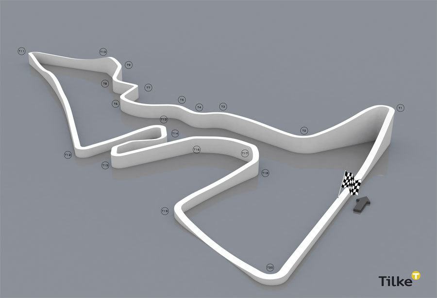 A 3D plan of the proposed US Grand Prix circuit in Austin