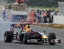 Karun Chandhok drives a Red Bull on the Korean International Circuit