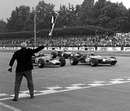 The closest finish of all time? Jackie Stewart takes the flag to win just ahead of Jochen Rindt and Jean Pierre Beltoise