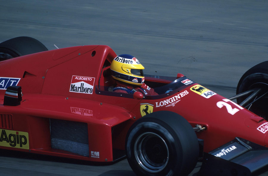 Michele Alboreto on his way to 8th place in the French Grand Prix
