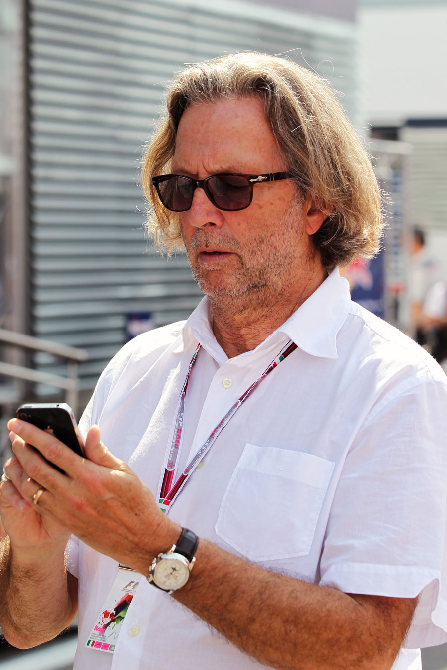 Eric Clapton makes an appearance at Monza