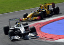 Nico Rosberg leads Robert Kubica