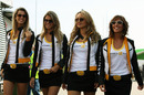 Renault girls strut through the paddock