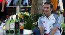 Jarno Trulli with his new range of wine