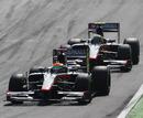 Sakon Yamamoto leads team-mate Bruno Senna at Monza