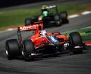 Timo Glock leads Heikki Kovalainen