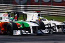 Tonio Liuzzi takes on Pedro de la Rosa, Italian Grand Prix, Monza, September 12, 2010