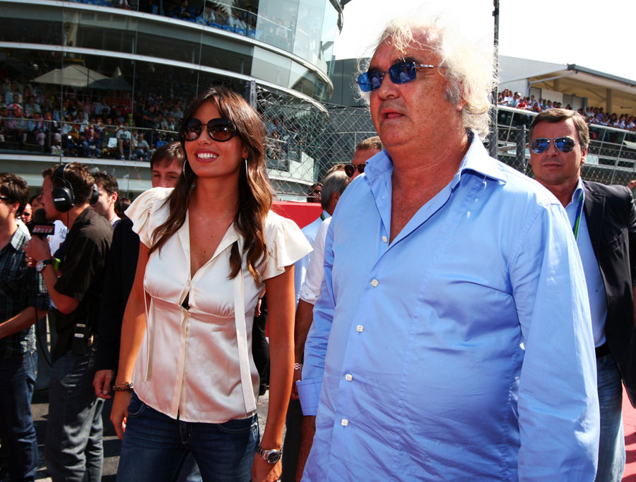 Flavio Briatore on the Monza grid
