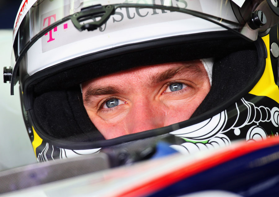 Nick Heidfeld in the cockpit of his BMW Sauber, German Grand Prix, Hockenheim, July 10, 2009