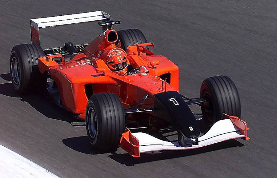 Michael Schumacher in action during the 2001 Italian Grand Prix