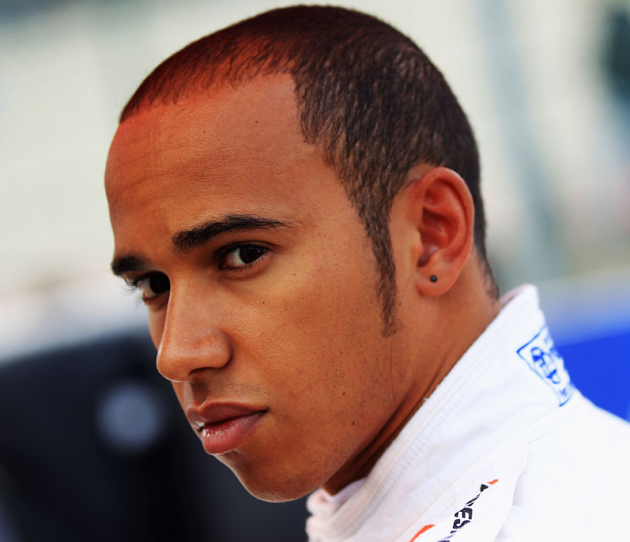 Lewis Hamilton ahead of the start of the race