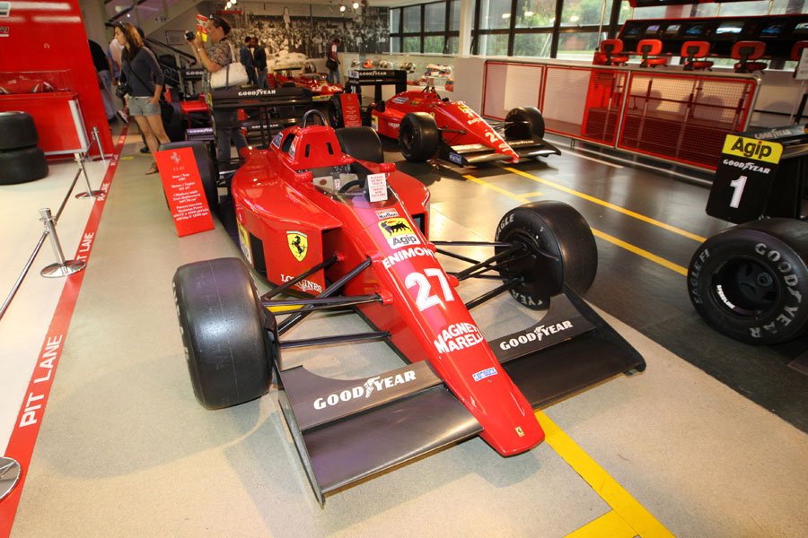 The 1989 Ferrari F1-89 of Nigel Mansell