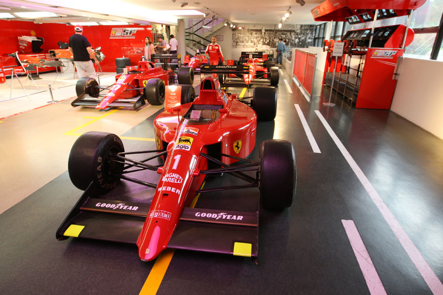 The 1990 Ferrari F1-90 of Alain Prost