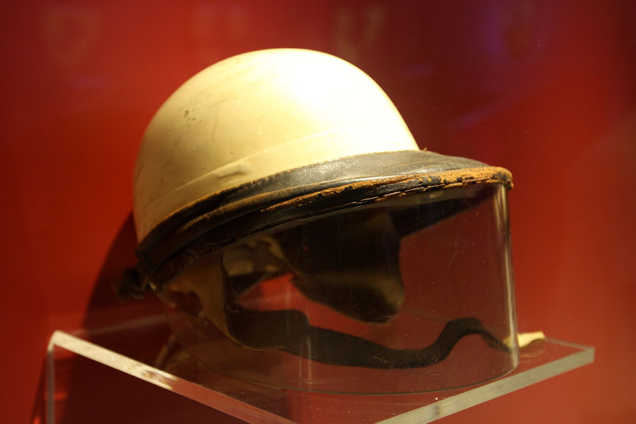 Helmet of the first British F1 World Champion Mike Hawthorn