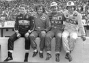 Four world champions - Ayrton Senna, Alain Prost, Nigel Mansell, and  Nelson Piquet