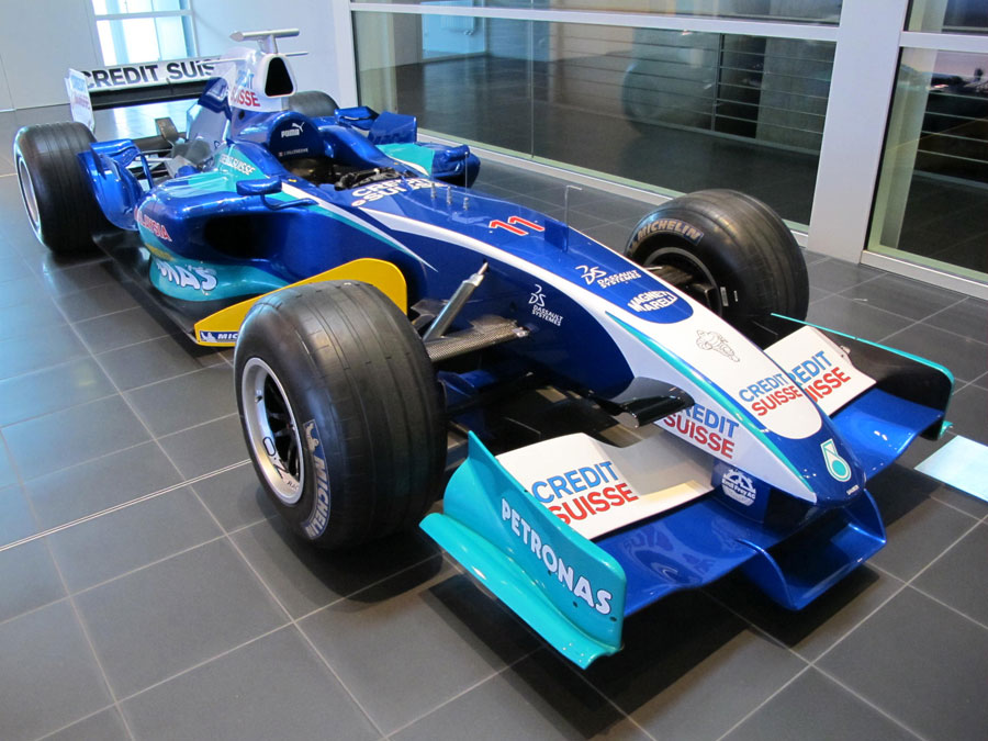 The 2005 Sauber Petronas C24 of Jacques Villeneuve