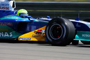 Felipe Massa during free practice at the Nurburgring,